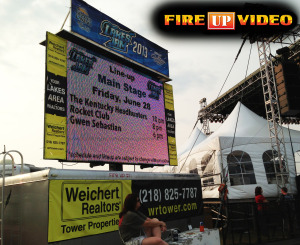 mobile led jumbotron big screen tv video board for event rental