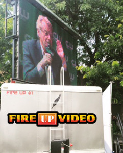 mobile led screen jumbotron video wall rental for outdoor events milwaukee wisconsin