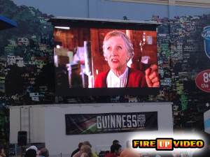 Outdoor LED video wall screen available for event rental