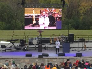 led video wall jumbotron screen tv rental for outdoor Darci Lynne event from americas got talent