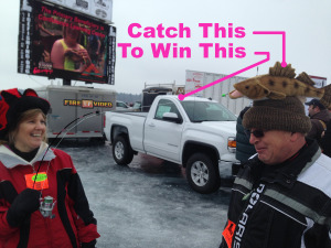 led mobile big screen tv video wall outdoor events ice fishing tournament rental winter