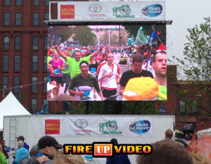 mobile LED video wall jumbotron to rent for events