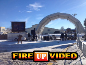 mobile led daylight video screen tvs for outdoor events