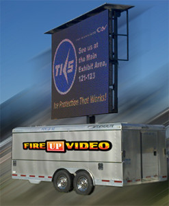 Fire Up Video Mobile Outdoor Big Screen Rental