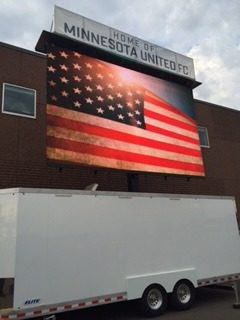 led mobile big screen video wall jumbotron for rent at outdoor events
