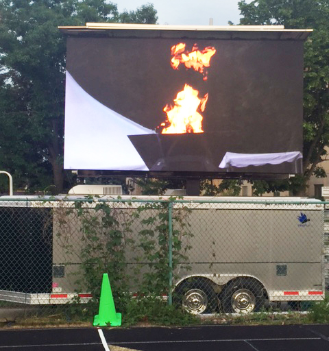 mobile led jumbotron big screen tv video board rental for outdoor events