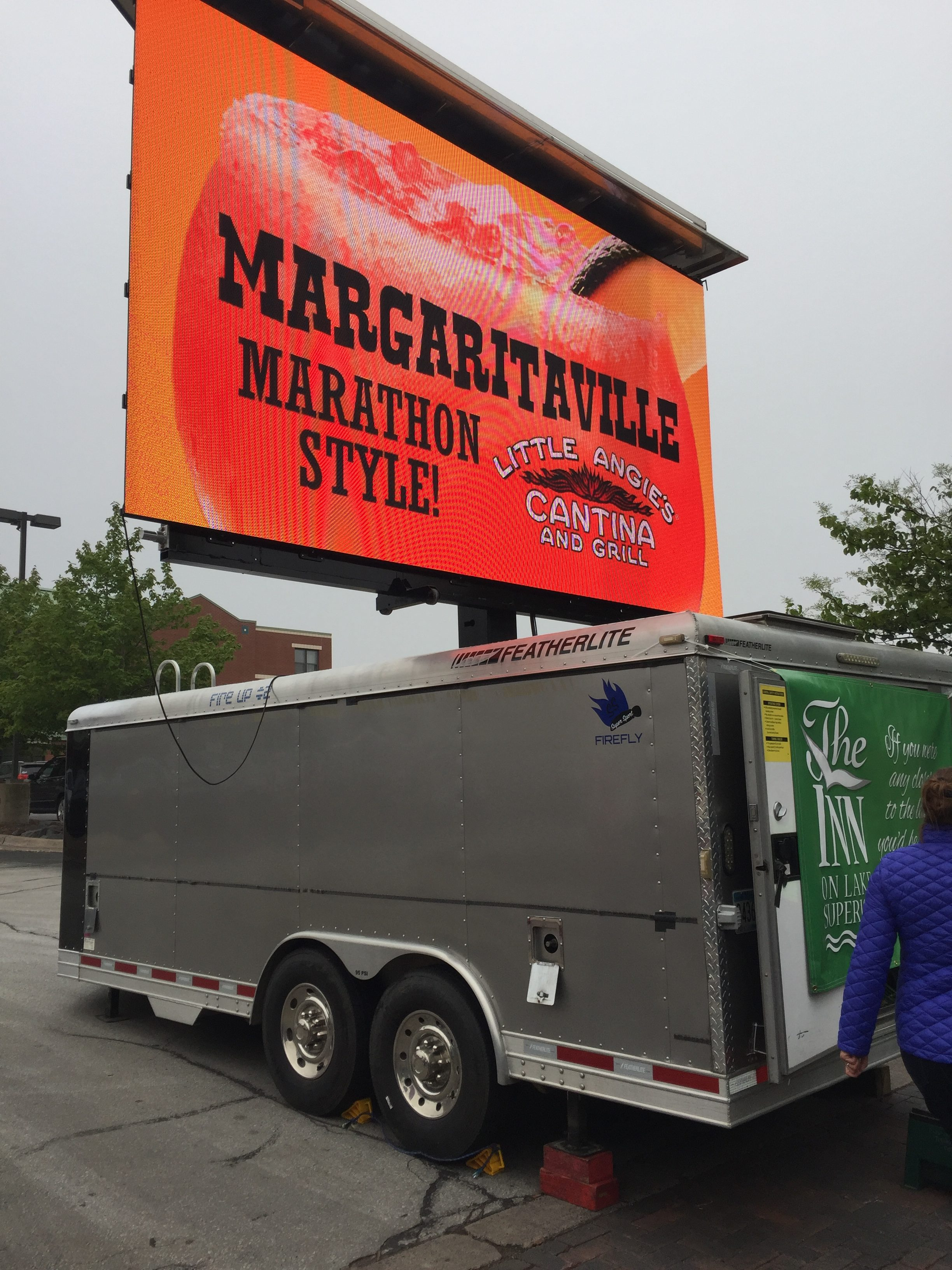 mobile big screen tv video board for rent at outdoor events