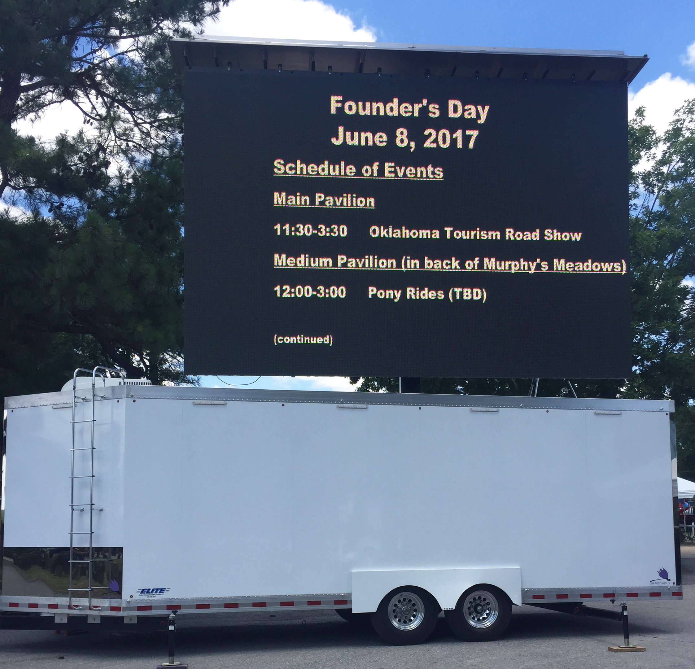 mobile jumbotron for messaging and traffic control